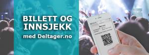 Billett på mobil på konsert
