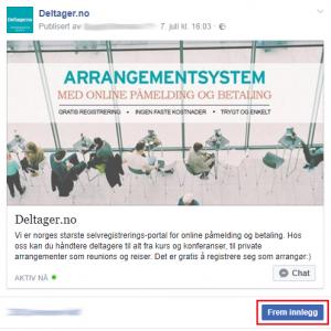 Fremme-knappen på Facebook